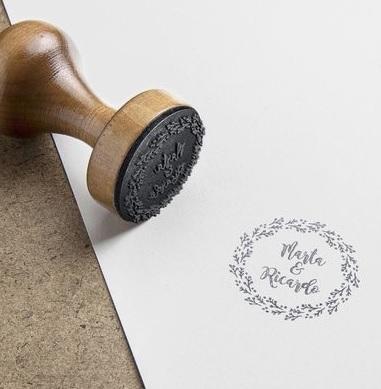sellos de boda retro