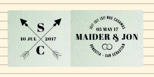 sellos de boda vintage