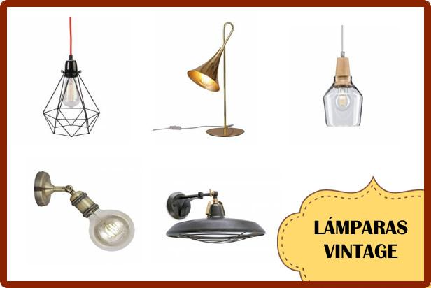 lamparas vintage con mucho estilo