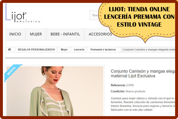 lijot tienda online lenceria premama vint