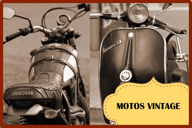 motos vintage retro