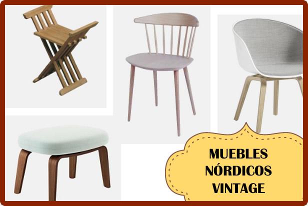 Muebles estilo Nórdico Vintage