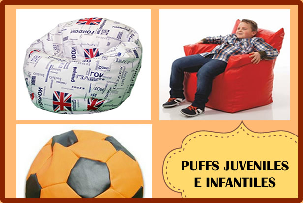 Puffs juveniles e infantiles con estilo vintage