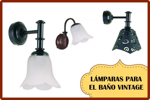 lamparas vintage baño