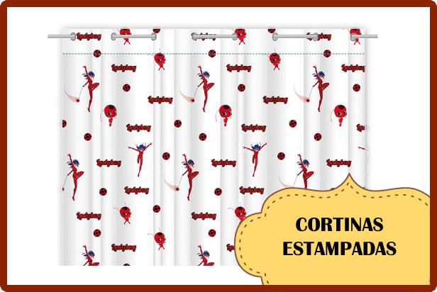 cortinas estampadas vintage