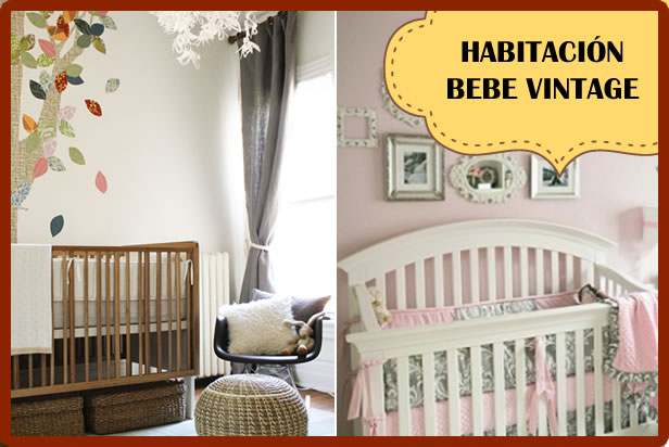 habitacion bebe vintage