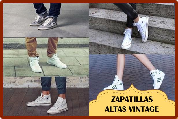 zapatillas altas vintage
