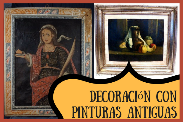 Pinturas antiguas decoracion vintage