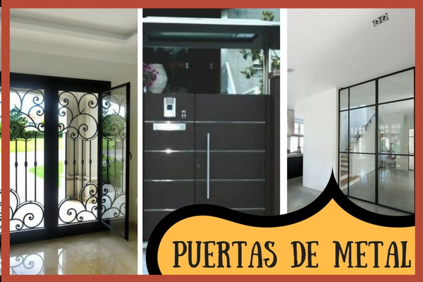 Tipos de puertas de metal o aluminio con estilo vintage for Puertas de metal para interiores