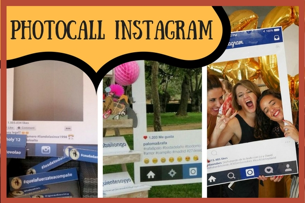 Photocall marco Instagram para fiestas
