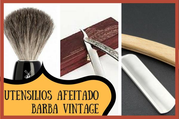 utensilios barba vintage