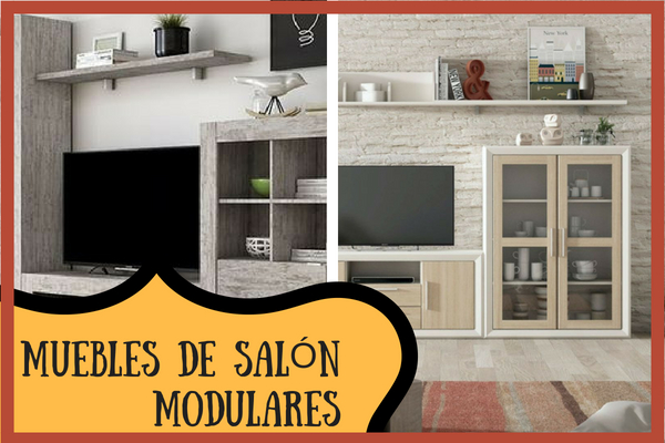 muebles modulares salon vintage