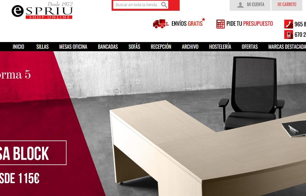 tienda de muebles de oficina