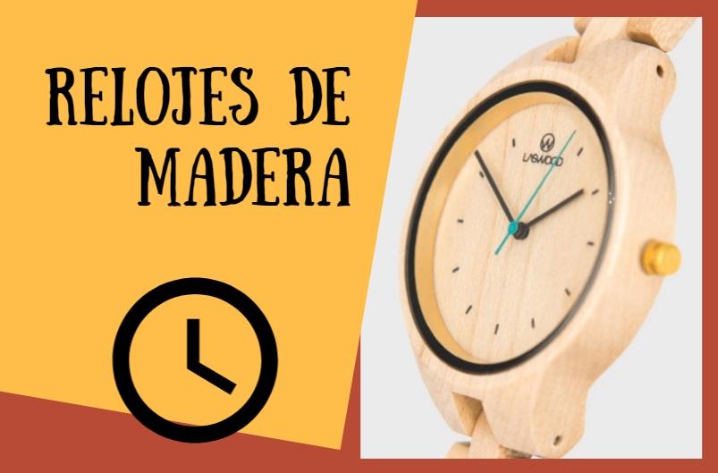 Relojes de madera, moda ecológica y vintage