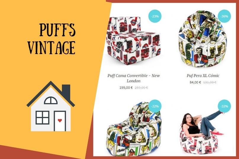 Puffs con estilo vintage