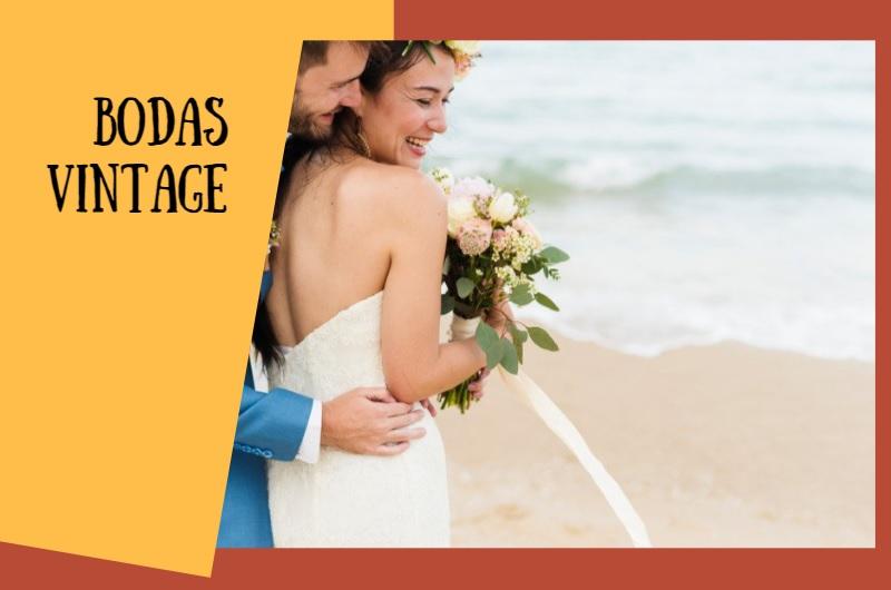 bodas playa vintage
