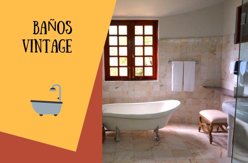 baños decoracion vintage