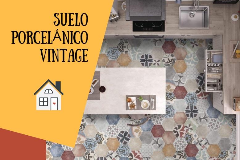 Dale estilo vintage a tu suelo con el porcelánico hidraulico