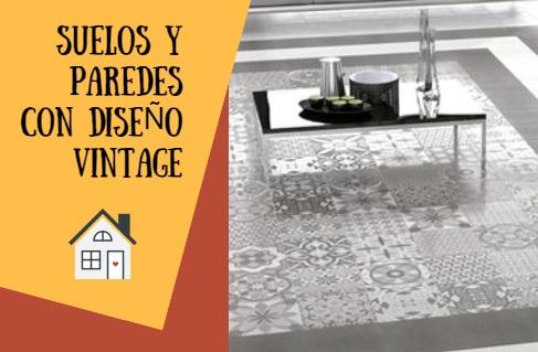 Ideas vintage para suelos y paredes