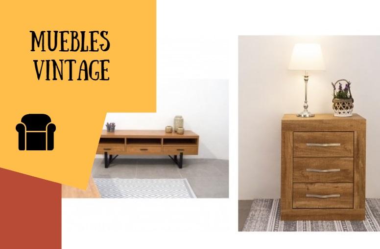 Decoración con muebles de estilo vintage