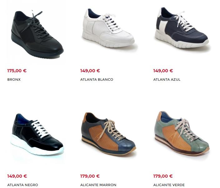 Zapatos con alzas para hombres