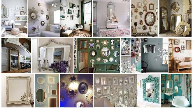 decoracion espejos vintage