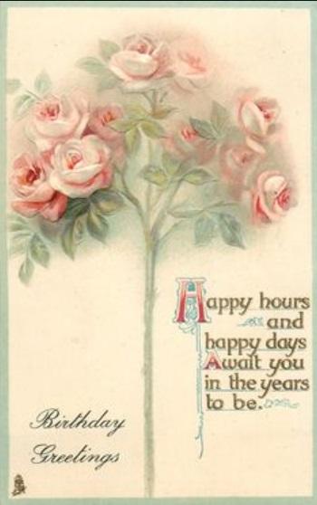 Tarjetas de Felicitación de Cumpleaños con estilo vintage