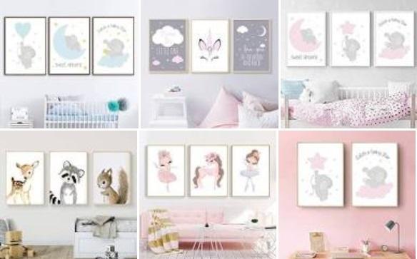 Diseños de cuadros para la habitación del bebe