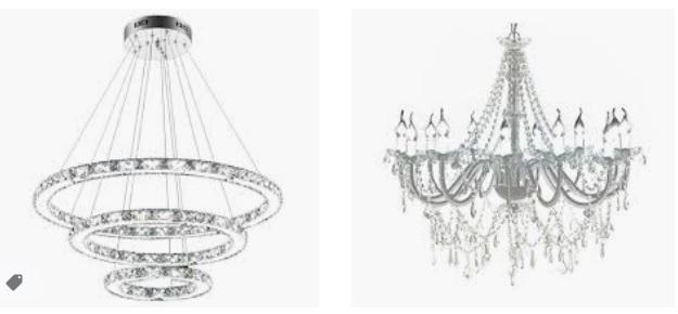 Las lamparas de araña de cristal vuelven a estar de moda