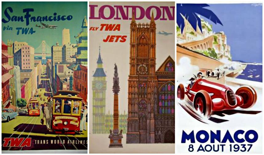 carteles turisticos vintage