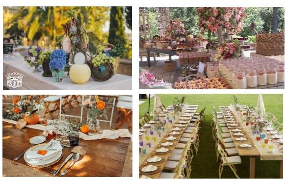 decoracion catering boda vintage