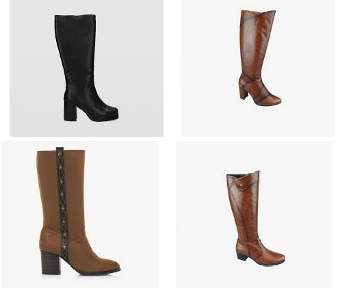 botas caña alta mujer