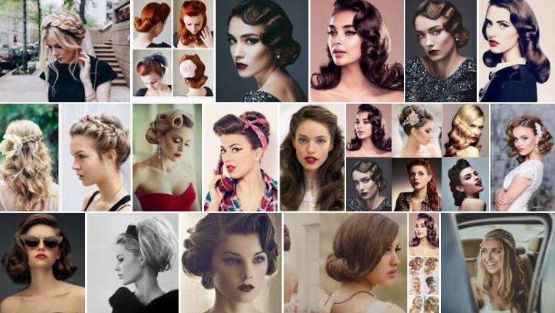 peinados vintage retro