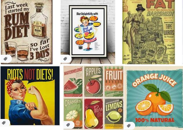 Dietas retro o vintage