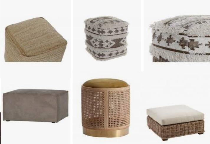 Los puffs decorativos encajan en todos los estilos