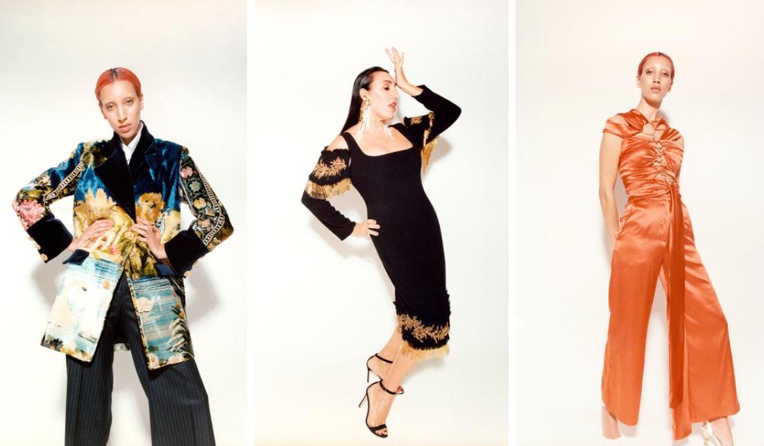 Vestidos de fiesta inspirados en tapices de los años 70