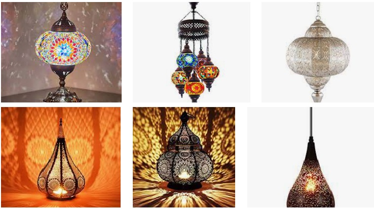 Lámparas exóticas con aires vintage