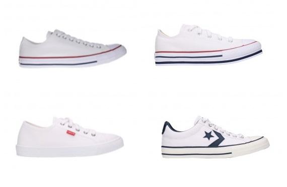 zapatillas blancas lona