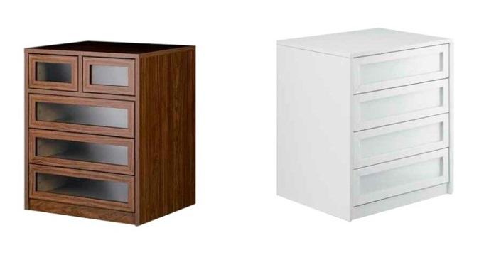 Cajoneras de madera clásicas para darle un toque de estilo a tu armario