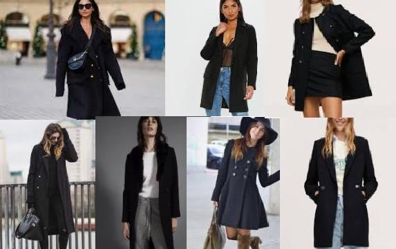 Cómo combinar abrigo negro mujer