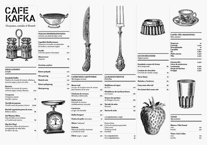 diseño de menu vintage