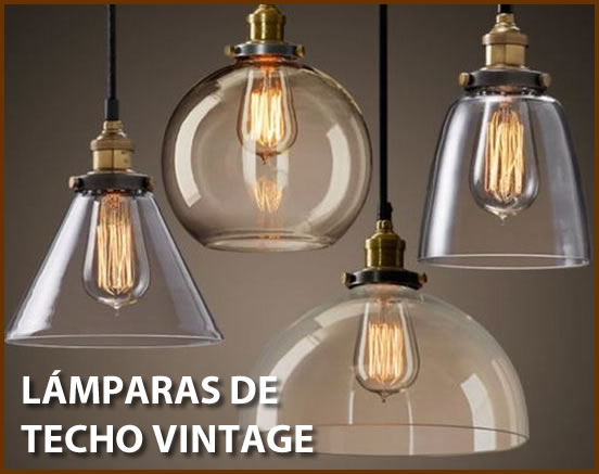 C mo decorar con l mparas de techo vintage o retro - Lampara de pie vintage ...
