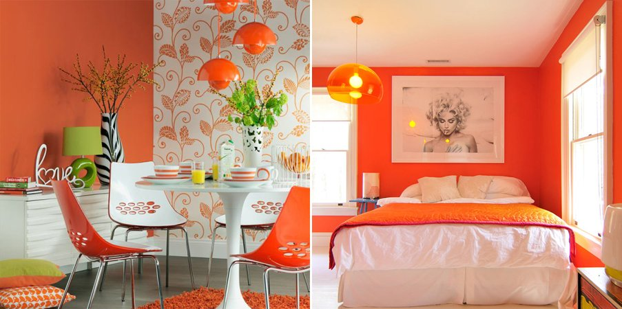 decoracion-retro-color-naranja