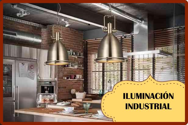 iluminacion industrial con estilo vintage