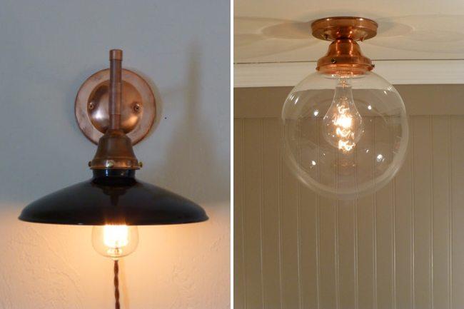 iluminacion vintage lamparas de cobre