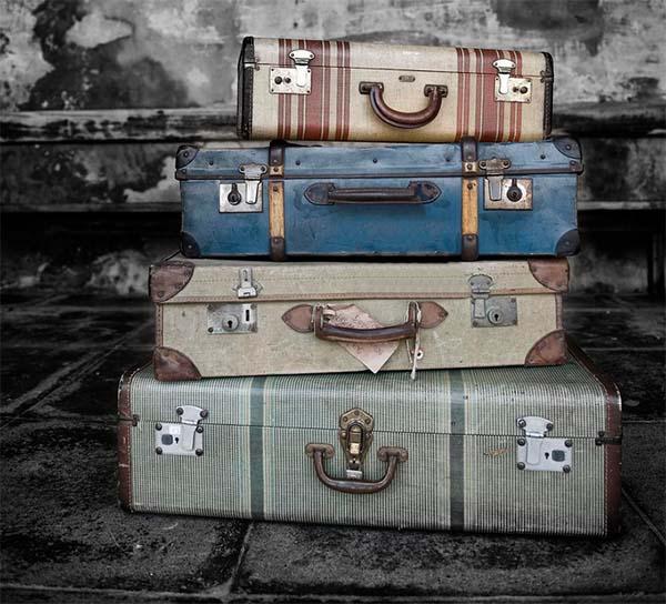 Reciclando maletas al más puro estilo vintage