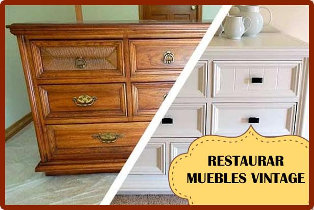 C mo restaurar un mueble vintage con estilo vintage - Como restaurar un mueble de madera ...