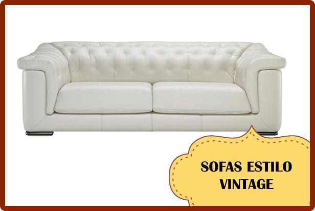 Escoge un sofá vintage  y decora tu casa de la misma manera